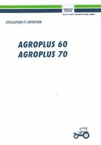 AGROPLUS 60 - AGROPLUS 70 - Utilisation et entretien