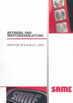 KRYPTON³ 80 V N-M-L-C ->2001 - Betriebs - und Wartungsanleitung