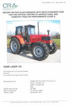 Report test of SAME Laser 125