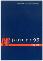 JAGUAR 95 EXPORT - Bedienung und wartung