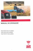FRUTTETO³ 80.4 CLASSIC - FRUTTETO³ 90 CLASSIC - FRUTTETO³ 100 CLASSIC - Manual do operador