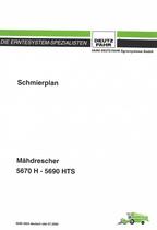 SCHMIERPLAN 5670 H - 5690 HTS - Betriebsanleitung