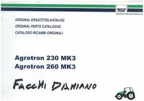 AGROTRON MK 3 230-260 - Original Ersatzteilkatalog / Original parts catalogue / Catalogo ricambi originali