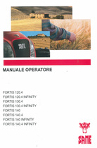 FORTIS 120.4 - FORTIS 120.4 INFINITY - FORTIS 130.4 - FORTIS 130.4 INFINITY - FORTIS 140 - FORTIS 140.4 - FORTIS 140 INFINITY - FORTIS 140.4 INFINITY - Manuale operatore