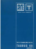 TAURUS 60 EXPORT - Catalogo Parti di Ricambio / Catalogue de pièces de rechange / Spare parts catalogue / Ersatzteilliste / Lista de repuestos