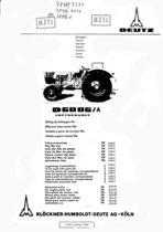 D 6006 A - Ersatzteilliste / Spare parts catalogue / Catalogue de pièces de rechange / Lista de repuestos