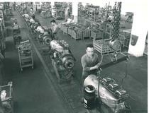 Stabilimento Same - Catena continua del montaggio motori