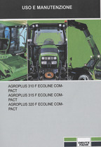 AGROPLUS 310 F ECOLINE COMPACT - AGROPLUS 315 F ECOLINE COMPACT - AGROPLUS 320 F ECOLINE COMPACT - Uso e manutenzione