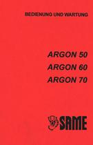 ARGON 50 - ARGON 60 - ARGON 70 - Bedienung und Wartung