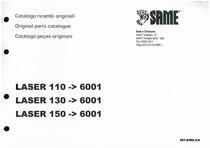 LASER 110 ->6001 - LASER 130 ->6001 - LASER 150 ->6001 - Catalogo parti di ricambio / Spare parts catalogue / Catalogo peças originais