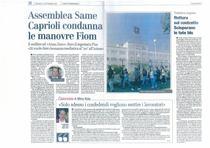 Assemblea SAME: Caprioli condanna le manovre Fiom