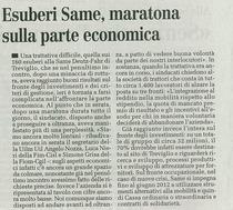 Esuberi SAME, maratona sulla parte economica