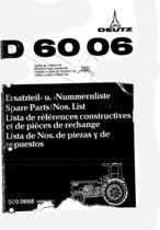 D 6006 - Ersatzteil-Nummerliste / Spare Parts - Nos. List / Liste de Repéres Numerique de Rechange / Lista de Nos. De Repuestos