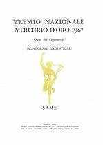 """D' AMATO Francesco, Estratto da """"PREMIO NAZIONALE MERCURIO D'ORO"""", Roma, Hermes House, 1967"""