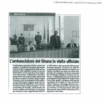 L'ambasciatore del Ghana in visita ufficiale