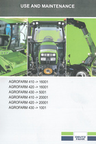 AGROFARM 410 ->16001 - AGROFARM 420 ->16001 - AGROFARM 430 ->5001 - AGROFARM 410 ->20001 - AGROFARM 420 ->20001 - AGROFARM 430 ->1001 - Use and maintenance