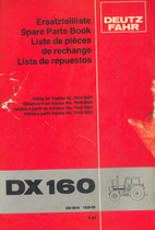 DX 160 - Ersatzteilliste / Spare parts book / Liste de pièces de rechange / Lista de repuestos