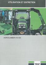 AGROCLIMBER 410 SIX - Utilisation et entretien