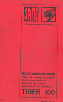 TIGER 100 - Parti di ricambio / Pièces de rechange / Tractor spare parts list / Repuestos para tractor / Ersatzteile für den Schelepper