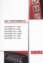 EXPLORER³ 85 -> 16001 - EXPLORER³ 85 -> 20001 - EXPLORER³ 100 -> 16001 - EXPLORER³ 100 -> 20001 - EXPLORER³ 110 -> 5001 - EXPLORER³ 110 -> 1001 - Uso y mantenimiento