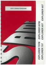 EXPLORER 75 - 95 TB - EXPLORER 75 - 85 - 95 T - Uso e manutenzione