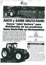 """AGCO y SAME Deutz-Fahr:Nueva """"Joint Venture"""" para distribucion de los productos SAME Deutz-Fahr in Norteamerica"""