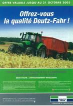 Offrez - vous la qualité Deutz- Fahr!