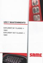 EXPLORER³ 90 T CLASSIC ->10001 - EXPLORER³ 105 T CLASSIC ->10001 - Uso y mantenimiento