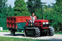 [SAME] trattore Rock 60 C al lavoro in azienda e nel frutteto con rimorchio