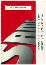 DORADO S 70 - 75 - 90 - 100 - DORADO V 70 - 75 - 90 - 100 - Uso e manutenzione
