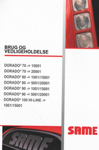 DORADO³ 70 -> 15001 - DORADO³ 70 -> 20001 - DORADO³ 80 -> 1001/15001 - DORADO³ 80 -> 5001/20001 - DORADO³ 90 -> 1001/15001 - DORADO³ 90 -> 5001/20001 - DORADO³ 100 HI LINE -> 1001/15001 - Brug og vedligeholdelse
