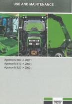 AGROTRON M 600 ->20001 - AGROTRON M 610 ->20001 - AGROTRON M 620 ->20001 - Use and maintenance