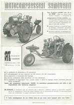 Trattorino SAME Universale HP 10 con applicazioni industriali - Motocompressore semovente e Autogru universale