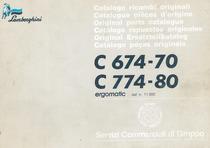 C 674-70 - C 774-80 ERGOMATIC dal n. 11.000 - Catalogo ricambi originali / Catalogue pièces d'origine / Original parts catalogue / Catàlogo repuestos originales / Original Ersatzteilkatalog / Catalogo pecas originais