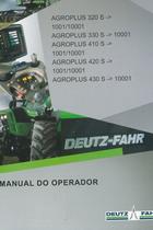 AGROPLUS 320 S ->1001/10001 - AGROPLUS 330 S ->10001 - AGROPLUS 410 S ->1001/10001 - AGROPLUS 420 S ->1001/10001 - AGROPLUS 430 S ->10001 - Manual do operador