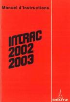 INTRAC 2002 - 2003 - Utilisation et Entretien