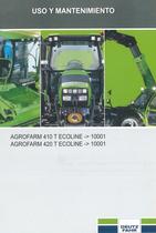 AGROFARM 410 T ECOLINE ->10001 - AGROFARM 420 T ECOLINE ->10001 - Uso y mantenimiento
