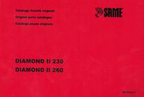 DIAMOND II 230-260 - Catalogo ricambi originali / Original parts catalogue / Catálogo peças originais