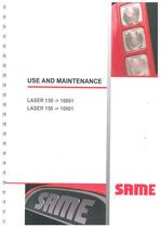 LASER 130 ->10001 - LASER 150 ->10001 - Use and maintenance