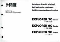 EXPLORER 70-80-90 Special - Catalogo Parti di Ricambio / Spare parts catalogue / Lista de repuestos
