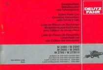 M 2480 - M 2580 - M 2680 - M 2685 - M 2780 - M 2780 H - Ersatzteilliste / Spare parts list / Liste de pièces de rechange / Lista de piezas de recambio
