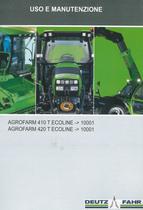 AGROFARM 410 T ECOLINE ->10001 - AGROFARM 420 T ECOLINE ->10001 - Uso e manutenzione