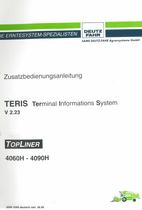 TERIS V 2.23 Terminal Informations System - TOPLINER 4060 H - 4090 H - Zusatzbedienungsanleitung