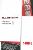 KRIPTON³ 90 F -> 2001 - KRIPTON³ 100 F -> 2001 - Uso y mantenimiento
