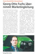 Georg-Otto Fuchs übernimmt Marketingleitung