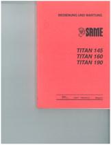 TITAN 145 - 160 - 190 - Bedienung und wartung