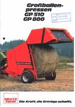 GROßBALLENPRESSE GP 510 - 800