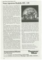 Neue Agrotron -Modelle 108-128
