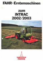 FAHR-ERNTEMASCHINEN ZUM INTRAC 2002/2003