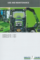 AGROLUX 65 ->1001 - AGROPLUX 75 ->1001 - Use and maintenance